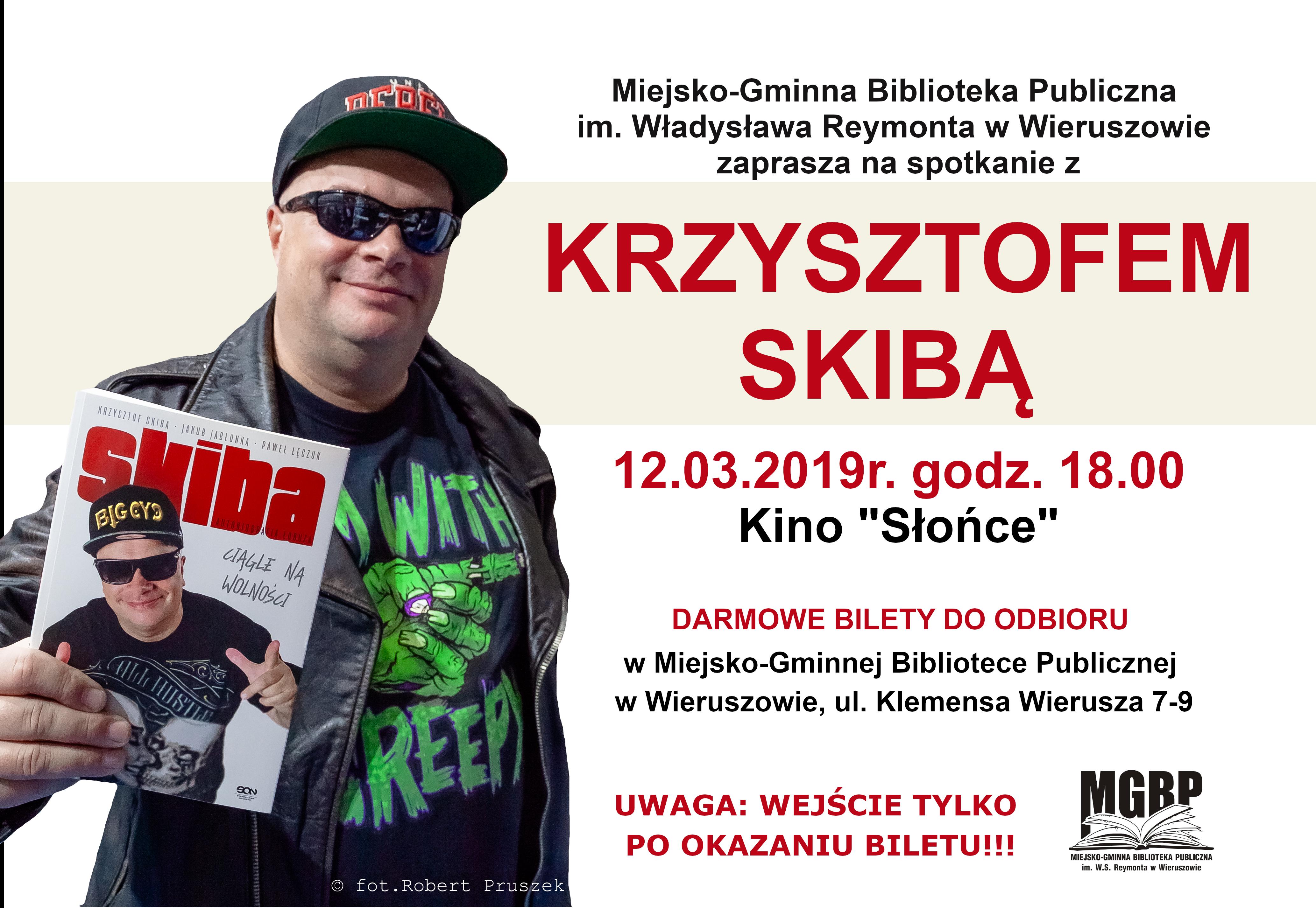 Krzysztof Skiba wWieruszowie- zapraszamy naspotkanie autorskie