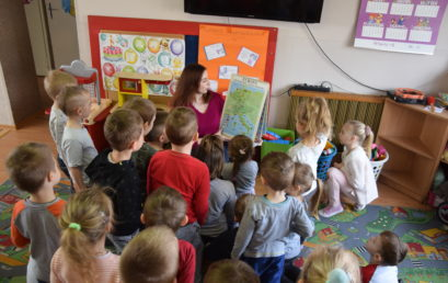 Świat zwierząt – lekcja biblioteczna wOddziale przedszkolnym wPieczyskach