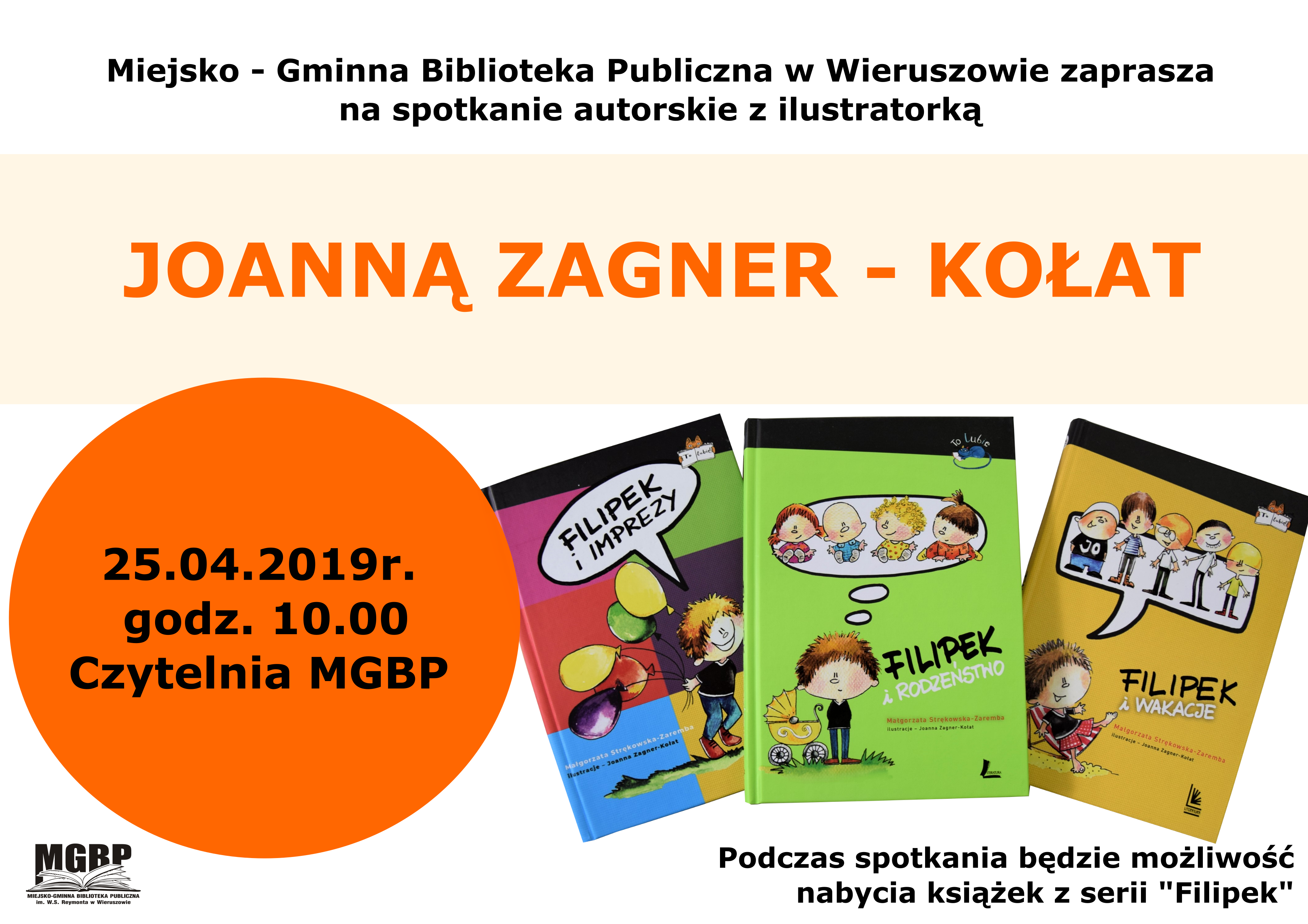 Spotkanie autorskie zilustratorką Joanną Zagner – Kołat