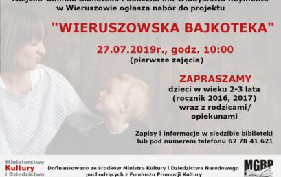 """Ruszył nabór wramach """"WIERUSZOWSKIEJ BAJKOTEKI""""!!!"""