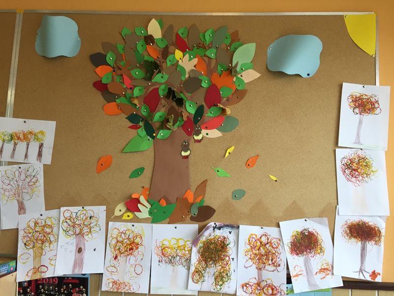 Prace plastyczne – jesienne drzewa