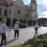 uczestnicy zajęć podczas marszu nordic walking