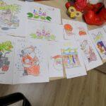 spotkanie przedmikołajkowe w Wyszanowie wystawka prac dzieci