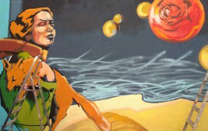 Projekt Równać Szanse MURALKI – powstaje mural naścianie biblioteki