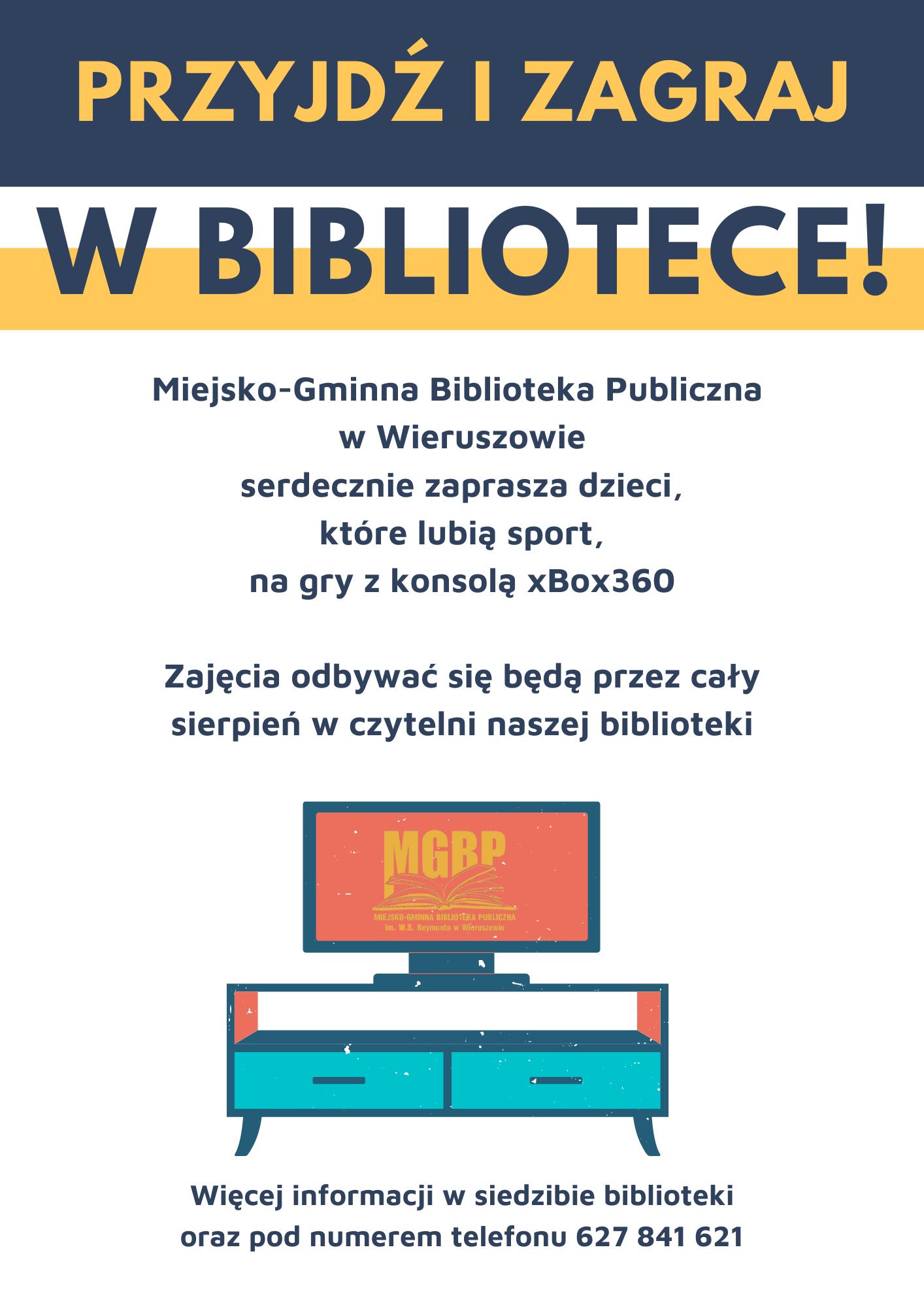 Przyjdź izagraj wbibliotece