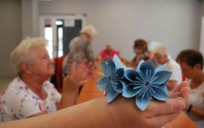 Kolorowe origami – zajęcia zprojektu Senior +